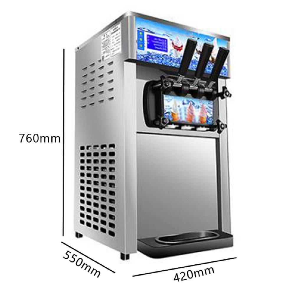 Commercial Ice Cream Machine, 110V / 60Hz 1200W Low Power Small Desktop Soft Ice Cream Making Machine US Plug(Without Refrigerant) by CARESHINE (Image #3)