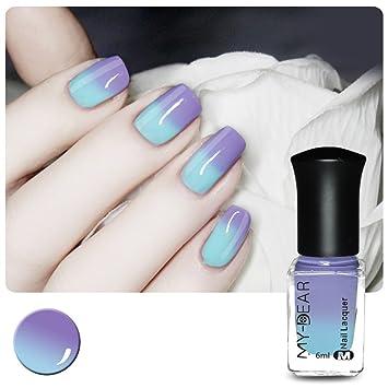 amazon com born pretty 1 bottle 6ml thermal nail varnish color