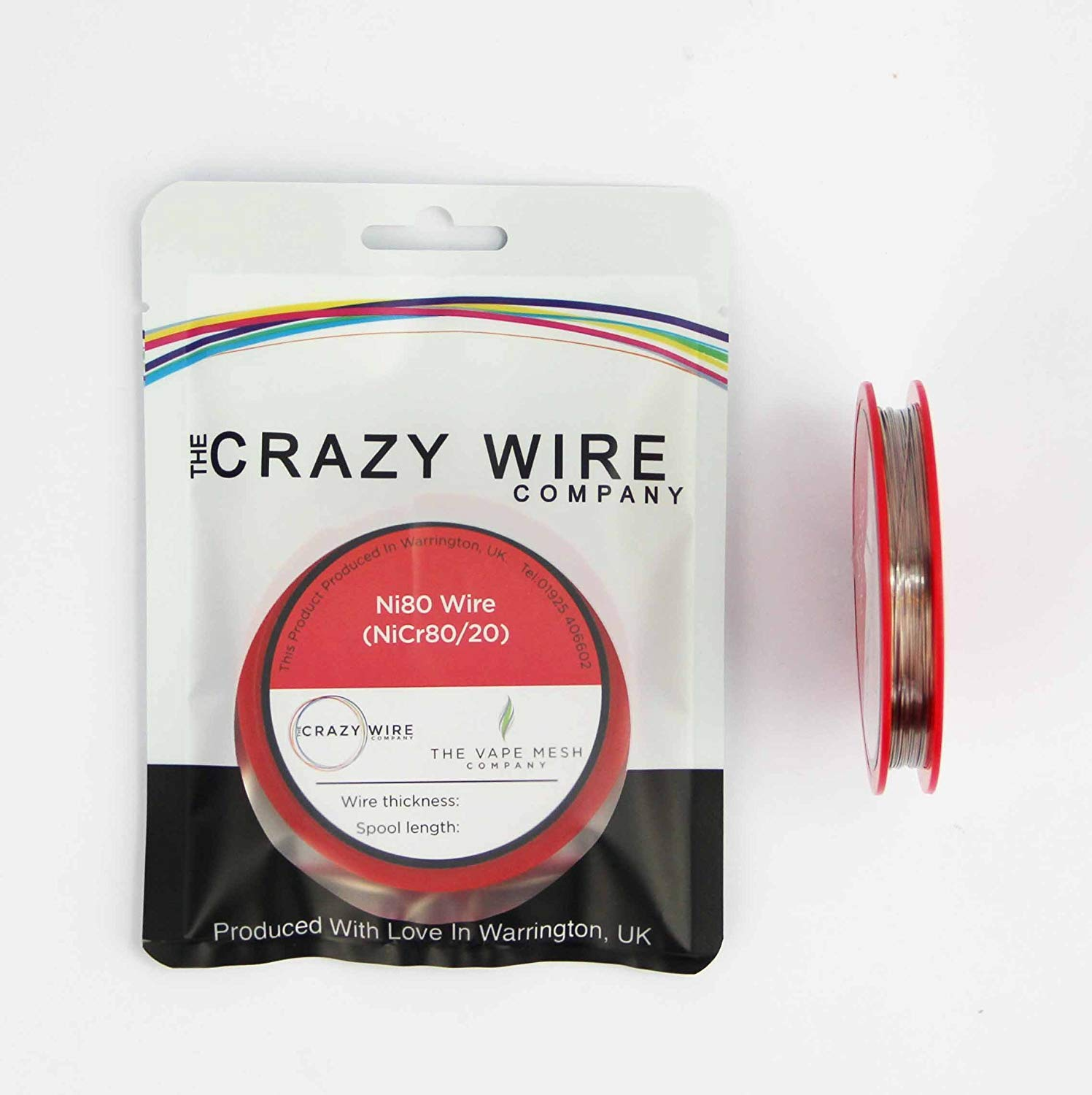 Round Resistance Wire Ni80 33 ft Spool 26 AWG 8.71 ohms//m 0.4mm 10 Metre Nichrome