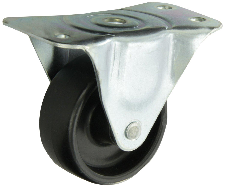 Albion 01PB03041R 3'' Diameter Polyolefin Wheel Light Duty Rigid Plate Caster, Plain Bore, 4-7/8'' Length x 2-5/16'' Width Base Plate, 210 lb. Capacity Range