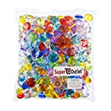 Super Z Outlet Acrylic Color Faux Round Diamond Crystals Treasure Gems for Table Scatters, Vase Fillers, Event, Wedding, Birthday Decoration Favor, Arts & Crafts (1 Pound, 240 Pieces) (Assorted)