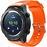 Gosuper Newest Soft Silicone Sport Replacement Strap for Huawei Watch 2