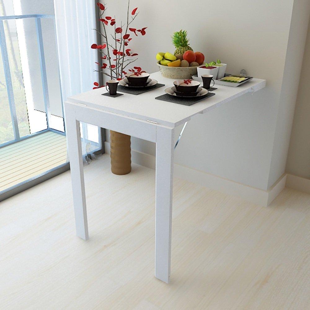 FEIFEI 折りたたみ式壁掛け型ドロップリーフテーブル、多機能コンピュータデスク子供用テーブルデスク、キッチンダイニングテーブル、壁掛けテーブル、折り畳み式フォトフレーム スペースを節約する (色 : 白, サイズ さいず : 90*60CM) B07DL7BJXM白 90*60CM