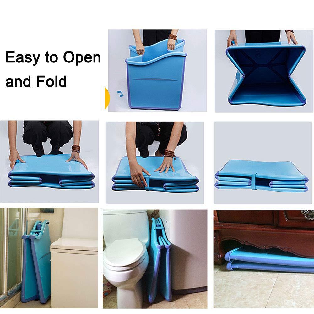 Weylan Tec Large Foldable Bath Tub Bathtub For Adult Children Baby Toddler Blue by Weylan Tec (Image #9)