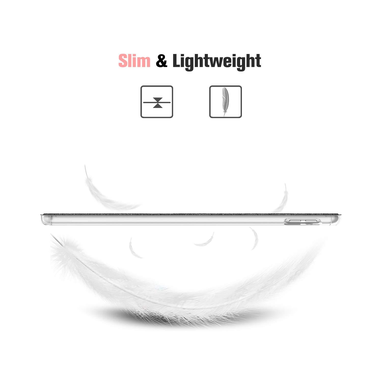 Oro Rosa FINTIE Custodia per iPad 10.2 Pollici 2019 Sottile Leggero Semi-Trasparente Cover Smart Case con Auto Sveglia//Sonno Funzione per Nuovo iPad 7 Generazione 10.2 2019