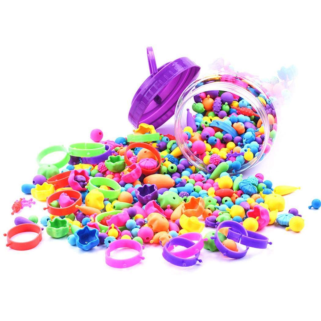 sholdnut 70/260Pcs Beads Jewelry DIY Necklace Bracelet Rings Set Kids Gifts to Activity Centers