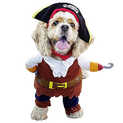 Free Fisher Ropa Disfraz de Pirata para Perro Gato Traje con ...