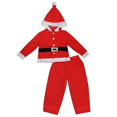 045f4da7f3876 2 PCS SET SANTA CLAUS Little Boys Christmas Hoodie & Pants Set