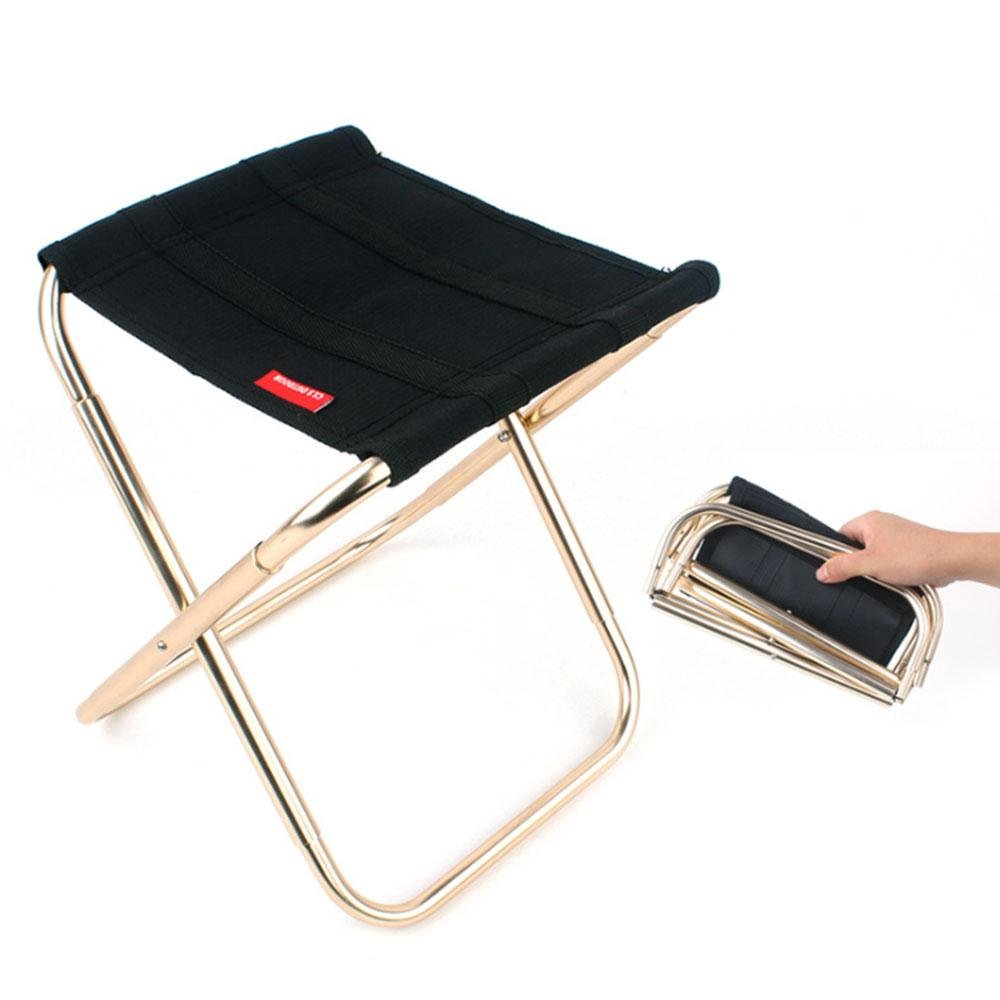 Aolvo Campeggio sgabello leggero, ultra-leggero in lega di alluminio portatile sedia pieghevole, outdoor Beach hiking Fishing Travel Backpacking Garden BBQ sedile