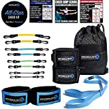Kinetic Bands All-Star Cheer Kit – Improve Cheerleader Fitness and Performance, Flexibility Stunt Strap, Tumbling Ankle Straps, Cheerleading Workout DVD and Training Guides