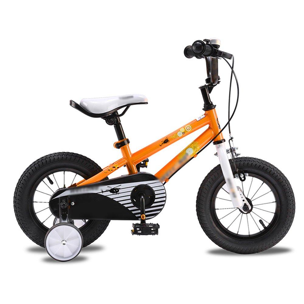 PJ 自転車 子供用自転車ベビーキャリッジ12/14/16インチマウンテンバイクオレンジホワイトレッドユニセックス 子供と幼児に適しています ( 色 : オレンジ , サイズ さいず : 12インチ ) B07CQSYM8V 12インチ オレンジ オレンジ 12インチ