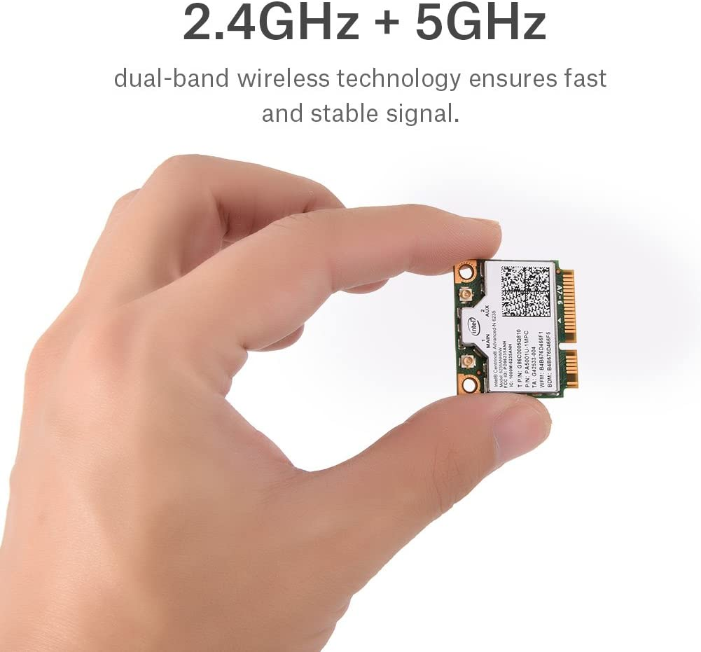 Bewinner 300 Mbps 2.4// 5G Dual-Band Mini PCI-E WiFi Card Support 802.11A// B//G//N for Intel 945//965// GM45// PM45 or Later Main Chip Laptops