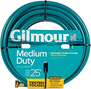 Gilmour 815251-1001 15012025 Green 15 Series 4 Ply Reinforced Vinyl Hose 1/2 Inch x 25 Feet 15012, 1/2 by 25'