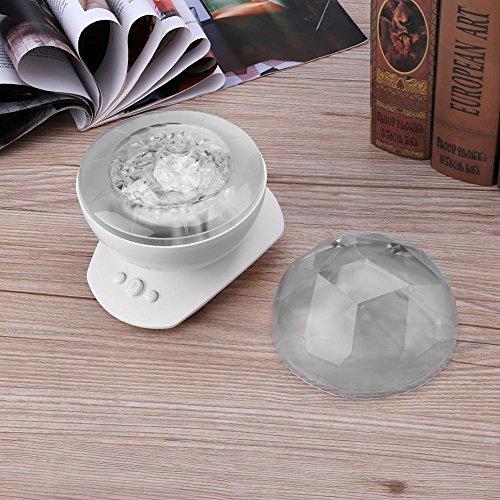 - Alloet Portable Night Light Magic Diamonds Ocean Projection Lamp+ Speaker (White)