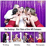 Sequin Curtains 2 Panels Purple 2FTx8FT Sequin Photo Backdrop Royal Purple Sequin Backdrop Curtain Pack of 2-1011E