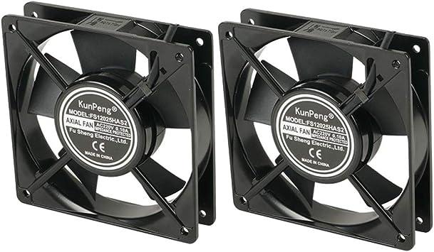 Shiwaki 2 Pedazos FS12025 220V Ventilador de Enfriamiento Adopta ...