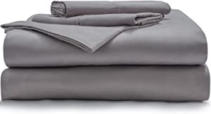 Miracle Made Signature Bed Sheets Set, King Bed Sheets Set Infused with Natural Silver to Prevent 99.9% of Bacterial Growth, 350 Thread Count Cotton Sheets, Ultra Breathable, Antimicrobial Bedding