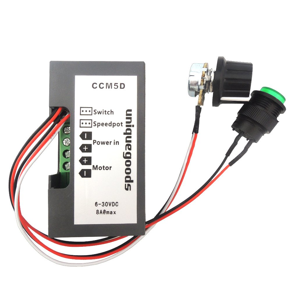 Uniquegoods 6v 12v 24v Digital Display Led Dc Motor Speed Controller Stepless Governor Circuit Basiccircuit Pwm Control Switch Hho Driver Black Ccm5d