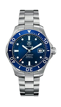 a78b3be0f61 Amazon.com: TAG Heuer Men's Aquaracer Stainless Steel Watch (WAN2111 ...