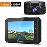 Crosstour In Car Dash Cam Mini 1080P FHD DVR Camera Video Recorder for Cars 170° Wide Angle HDR with Motion Detection Loop Recording and G-sensor (CR100)