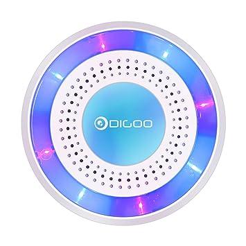 digoo dg-rosa 433 mhz sirena de alarma independiente ...