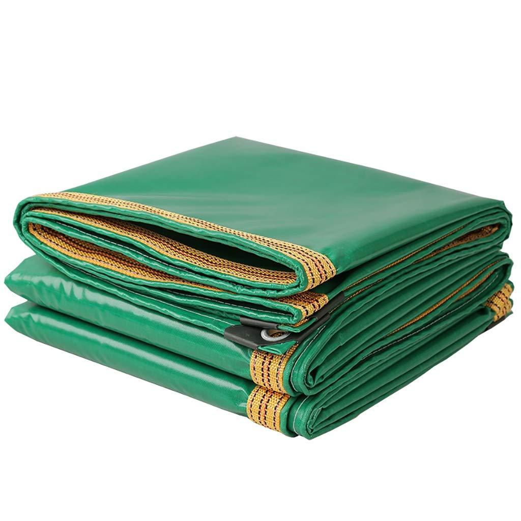 グリーン工業用ポリエステル糸PVCコーティング防水布家庭用両面防水サンシェード防水シート。 (サイズ さいず : 6*8m) B07RKGTCW3  6*8m