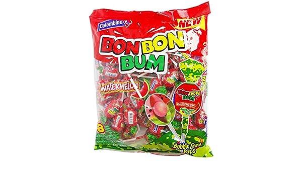 Chupetín Bon Bon Bum con goma de mascar en el interior ...