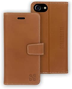 SafeSleeve Anti Radiation RFID iPhone Case: iPhone 8, iPhone 7, iPhone 6 and iPhone SE 2 (2020) ELF & RF Blocking Identity Theft Protection Wallet (Leather)