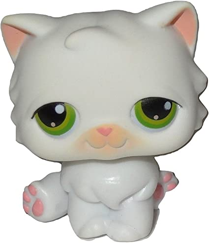 """LITTLEST PET Cream White Cat kitty COLLECTION 3/""""  FIGURE LPS Nice Gift For kids"""