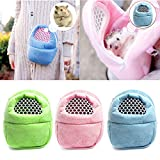 Hamster Rat Hedgehog Chinchilla Ferret Carrier Packet Bag Sleeping Hanging Bag Blue Size L