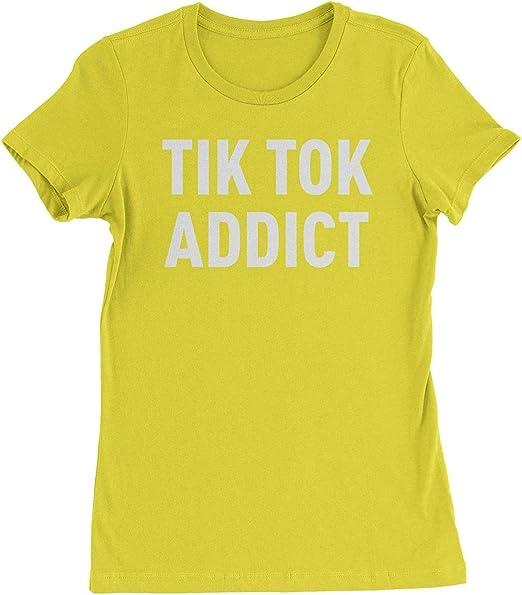 Nobrand - Camiseta para mujer con diseño de Addict de verano tik tok addict: Amazon.es: Ropa y accesorios