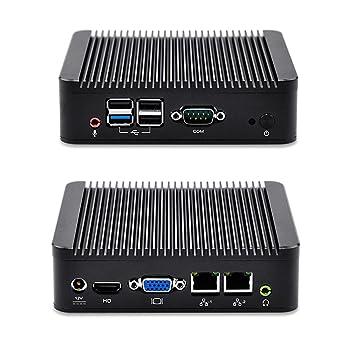 Mini PC Linux Ubuntu Computer Dual Gigabit Ethernet 2G Ram 64G mSata SSD  300M WiFi Quad Core J1900 CPU