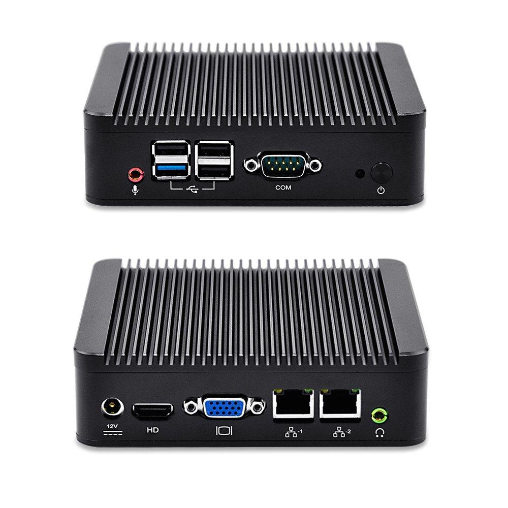 QOTOM-Q190S-S01 2 LAN Industrial Mini pc J1900 (8G RAM,128G SSD,300M WIFI+Bluetooth)