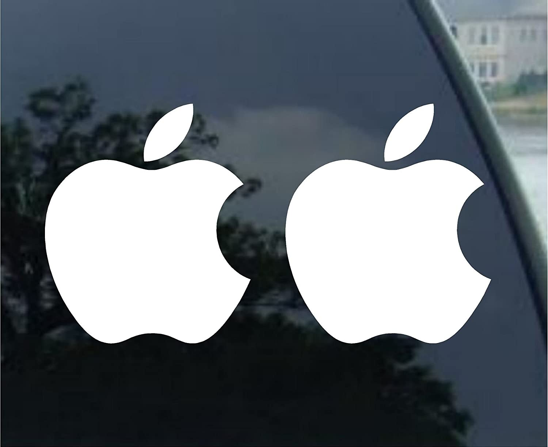 Amazon Apple White Mac Logo Decals Automotive