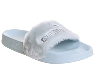 50ee99558f48 Image Unavailable. Image not available for. Color  Puma - Fur Slide Wns  Cool Blue ...