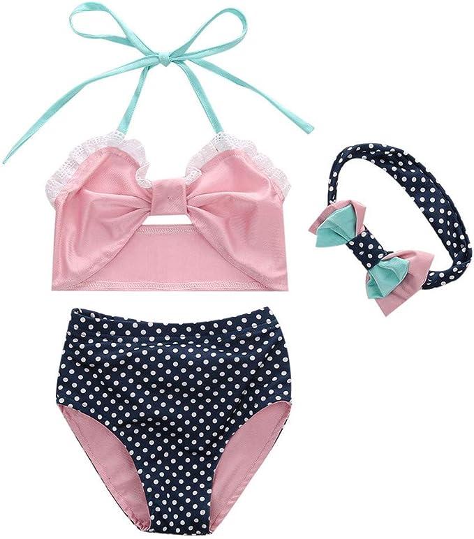 GorNorriss Baby Swimwear Children Kids Girls Bikini Beach Straps Swimsuit Tops+Shorts Set