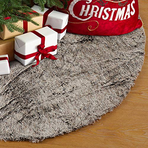 10 best christmas tree skirt fur brown for 2020