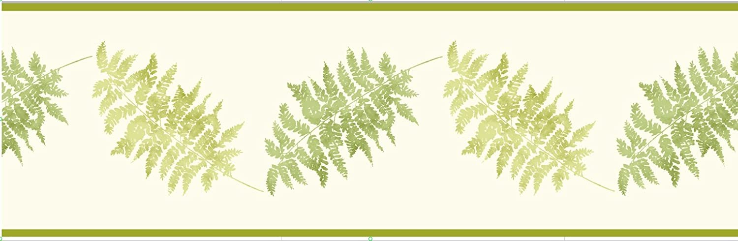 Fine Decor 173 mm Fern Border, Green FDB07506S