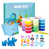 Modeling Clay Kit - 24 Colors Air Dry Ultra Light Magic Clay, Soft & Stretchy DIY Molding Clay with Tools, Animal…