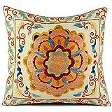 Uzbek Suzani Pillow | iii 16x16 Hand Embroidered Pillow Cover …