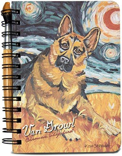 Pavilion Gift Company 12093 German Shepherd Van Growl Journal and Pen Set, 5 by 7-Inch
