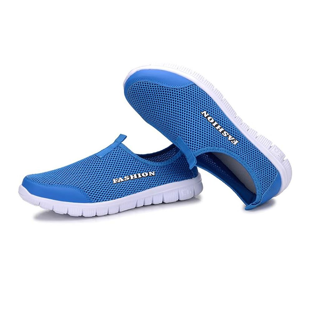 2018 New Unisex-Adult Sandals Casual Lightweight Quick Drying Mesh Water Aqua Slip-on Water Mesh Shoes Perfect Match Offroad Multisport Outdoor Shoes for Waterproof (Color : Blue, Size : 10 D(M) US) B07G6QH5KC Slippers 343099
