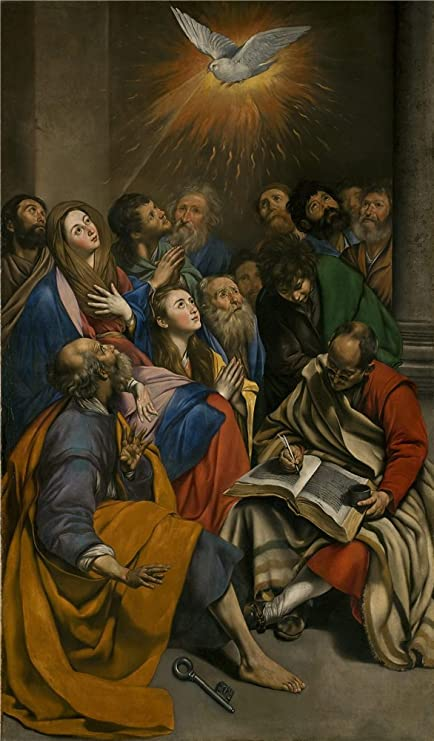 Great Oil Painting U0027Maino Fray Juan Bautista Pentecostes 1612 14u0027, 12 X 20 Inch