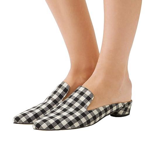 NJPU - Zapatillas sin talón tacón bajo para Mujer: Amazon.es: Zapatos y complementos