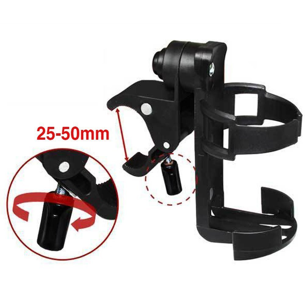Wheelchair Cup Holders, ProCIV 360 Degrees Universal Cup Holder fits Baby Stroller, Pushchair Bicycle Strollers, Bike, Mountain Bike and Wheelchair, Black (CupHolder)