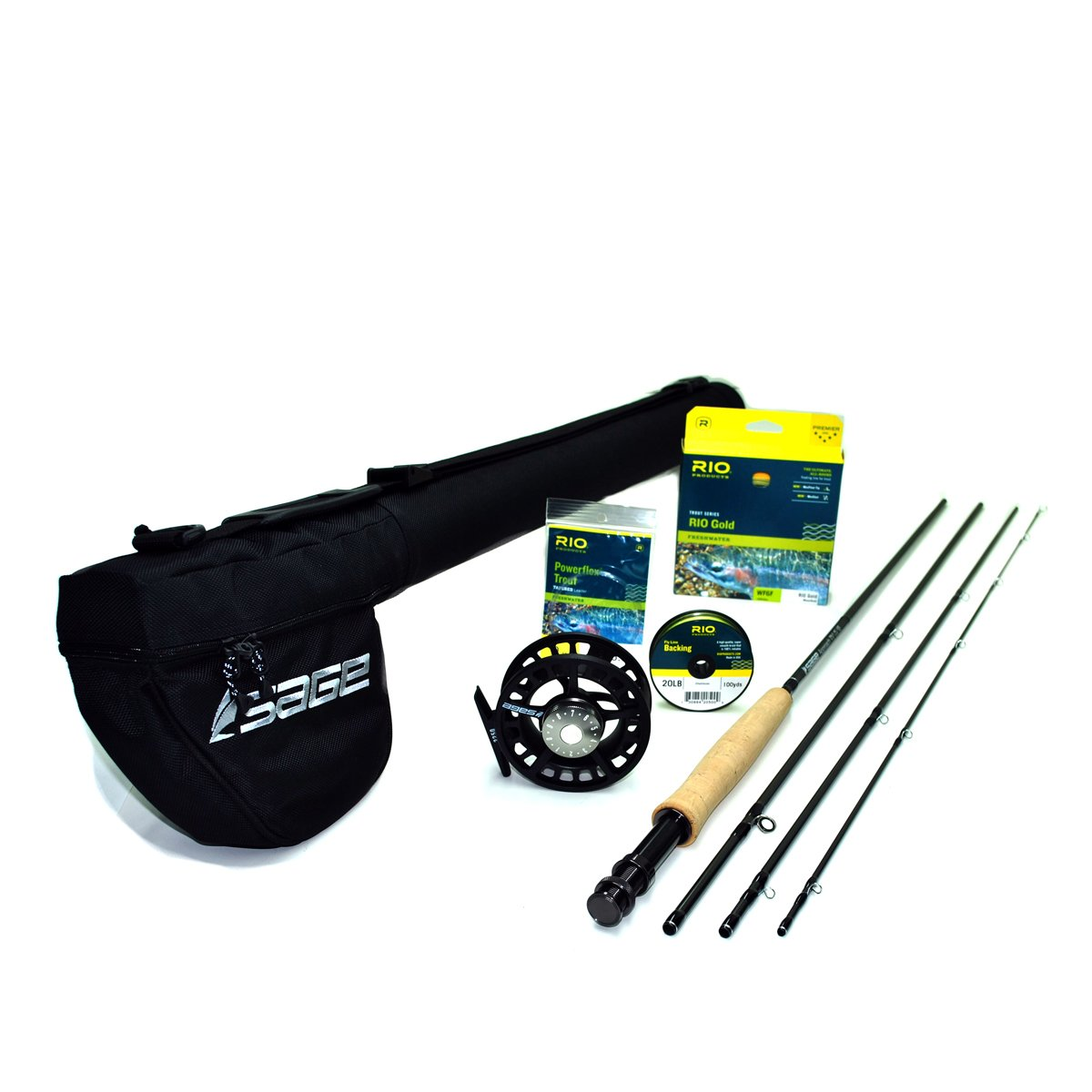Sage Approach 586-4 Fly Rod Outfit w/Sage 2250 Reel (8'6'', 5wt, 4pc)
