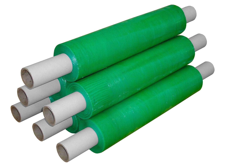 Tezraftaar® Green Shrink Wrap Film Pallet strech Wrap 400mm x 20Micron Extended Core (6) Amico