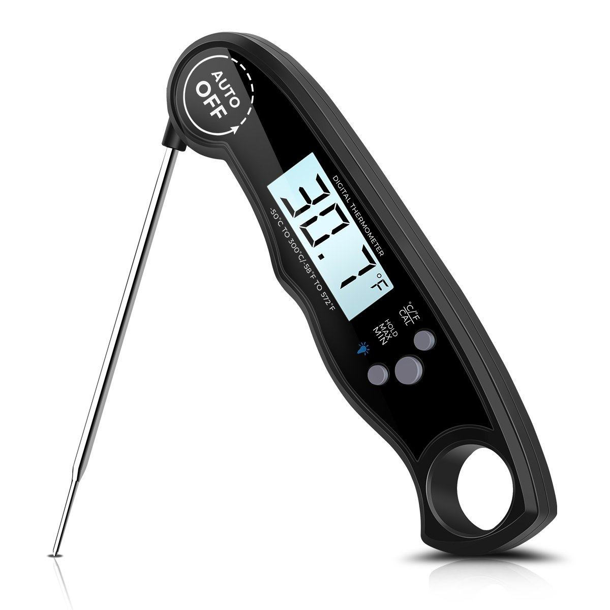 Digital Meat Thermometer Instant Read 3-4s Electronic Waterproof Food Thermometer with Probe for Candy BBQ Grill Kitchen Smoker Cooking
