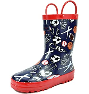 Amazon.com | Kids Rain Boots, Cute Children Faux Fur Lined Boots ...