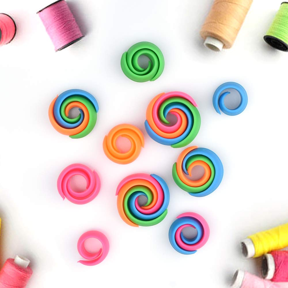 Peels Thread Spool Huggers,Thread Holder and Organizer Onepine Spool Huggers 24 Pieces 4 Colors Silicone Thread Holders for Spools of Thread Effectively Prevents Thread Unwinding